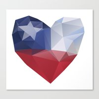 chile Canvas Prints featuring Chile Heart by Favio Torres