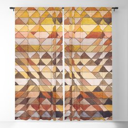 Triangle Pattern Fall Colors Blackout Curtain