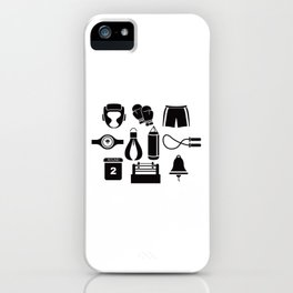 All The Things You Need To Become A Great Boxer iPhone Case