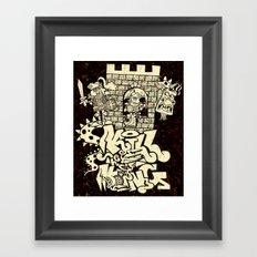 kill the king. Framed Art Print