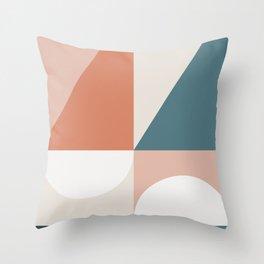Cirque 02 Abstract Geometric Throw Pillow
