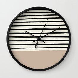 Latte & Stripes Wall Clock