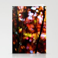 bokeh Stationery Cards featuring Bokeh by KitKatDesigns