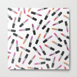 Lipstick Collage Metal Print