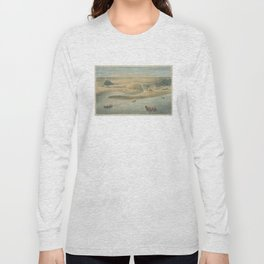 Vintage Map of Chicago in 1820 Long Sleeve T-shirt