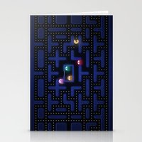 pacman Stationery Cards featuring Pacman by Foxxya