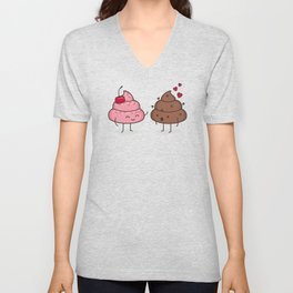Love Sucks - Cute Doodles Unisex V-Neck