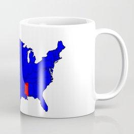 State of Mississippi Location Coffee Mug