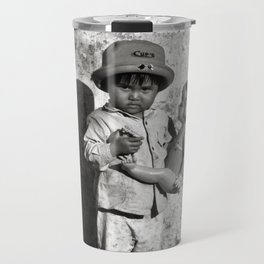 GIRL WITH DOLL in VIETNAM Travel Mug