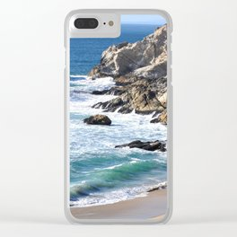 CALIFORNIA COAST - BLUE OCEAN Clear iPhone Case