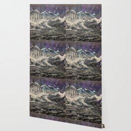 Winter Auroras - mountain range Wallpaper