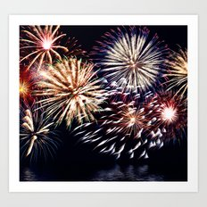 celebration fireworks Art Print