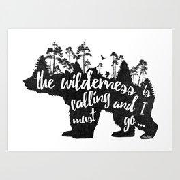 Wild Call - Bear Art Print