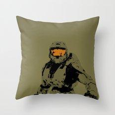 Master Chief Redux Throw Pillow