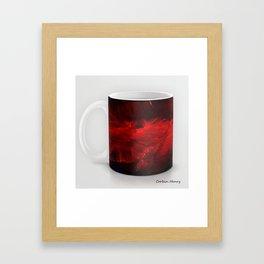 Dark Red Coffee Mug Modern Art Print Framed Art Print