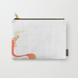 Orange Mermaid Carry-All Pouch