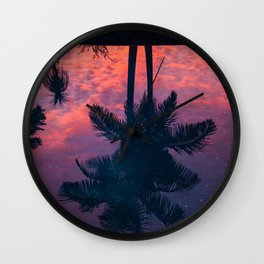 Palm Trees Landscape 05 Wall Clock