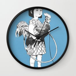 Rooster Girl Wall Clock