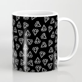 White Diamond Doodles Coffee Mug