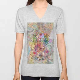 Ginkgo Spiralled Sunflower Unisex V-Neck