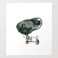 Chick on speed Art Print