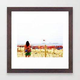 Ipanema New Year's Eve Framed Art Print