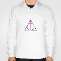 deathly hallows Hoodies featuring The Deathly Space Hallows by Enyalie
