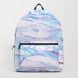 Pastel Marble with Blue Green Purple Backpack