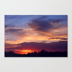 Violet Sunset Canvas Print