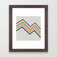 Retro Stripes Framed Art Print