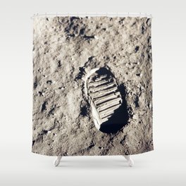 One Giant Leap For Mankind Shower Curtain