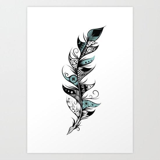 Poetic Feather Art Print