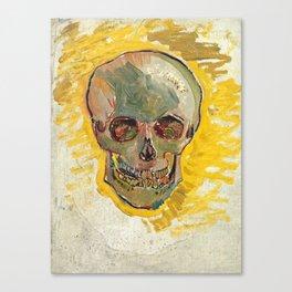 Vincent Van Gogh Skull Canvas Print