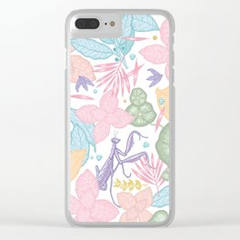 floral pastel spring dreams Clear iPhone Case