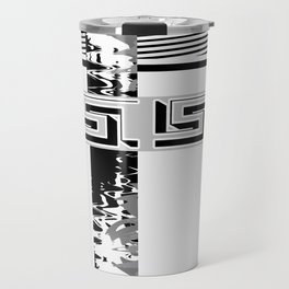 Creative Black and white pattern . The braided belts . ( men's , unisex) Travel Mug