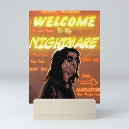 Welcome To My Nightmare Mini Art Print