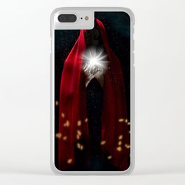 Magic Witch Print, Gothic art Clear iPhone Case
