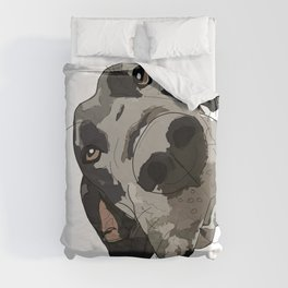 Great Dane dog in your face Duvet Cover