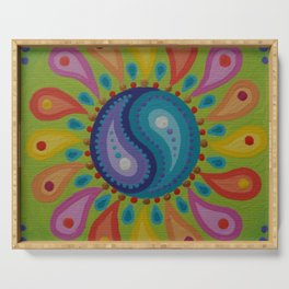 Colour Burst Yinyang Mandala Serving Tray