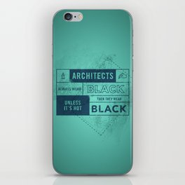 Architects wear black iPhone Skin