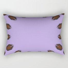 Animal Footprint Spray Mandala Rectangular Pillow