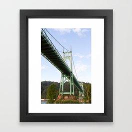 St John's Bridge Portland Framed Art Print