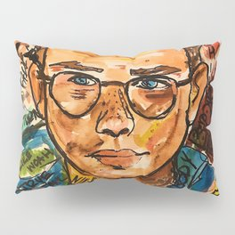 rapper,colourful,colorful,poster,wall art,fan art,music,hiphop,rap,logicc,lyric Pillow Sham