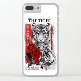 In me the tiger sniffs the rose Clear iPhone Case