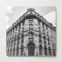 Old Montreal Hotel Metal Print