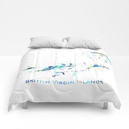 British Virgin Islands Map Comforters