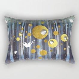 Golden nests Rectangular Pillow