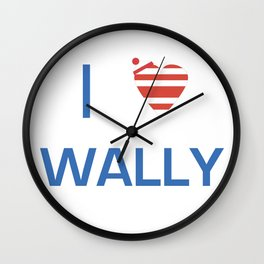 I Heart Wally Wall Clock