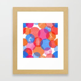 Bauhaus Bubbles Framed Art Print