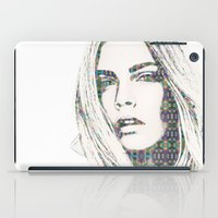 cara iPad Cases featuring Cara Delevigne by fashionistheonlycure